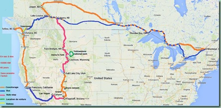 road-trip ouest Canada-USA